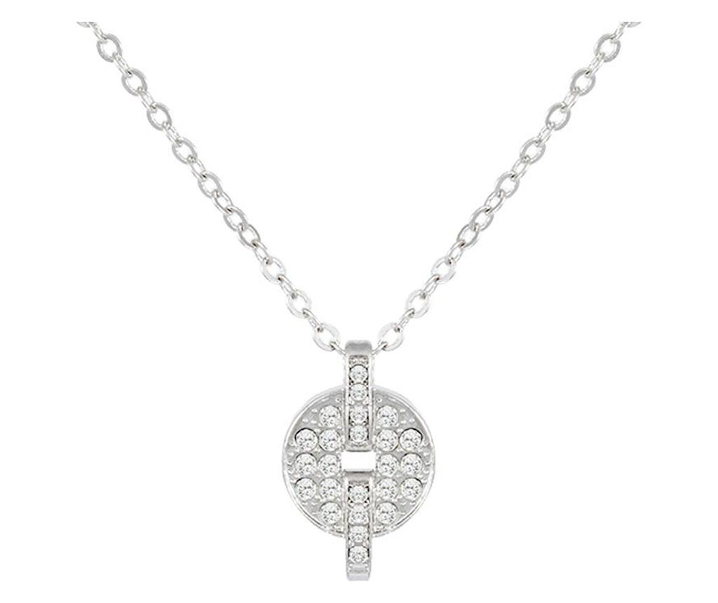 Lantisor cu pandantiv Afrodita Silver - VipDeluxe, Gri & Argintiu