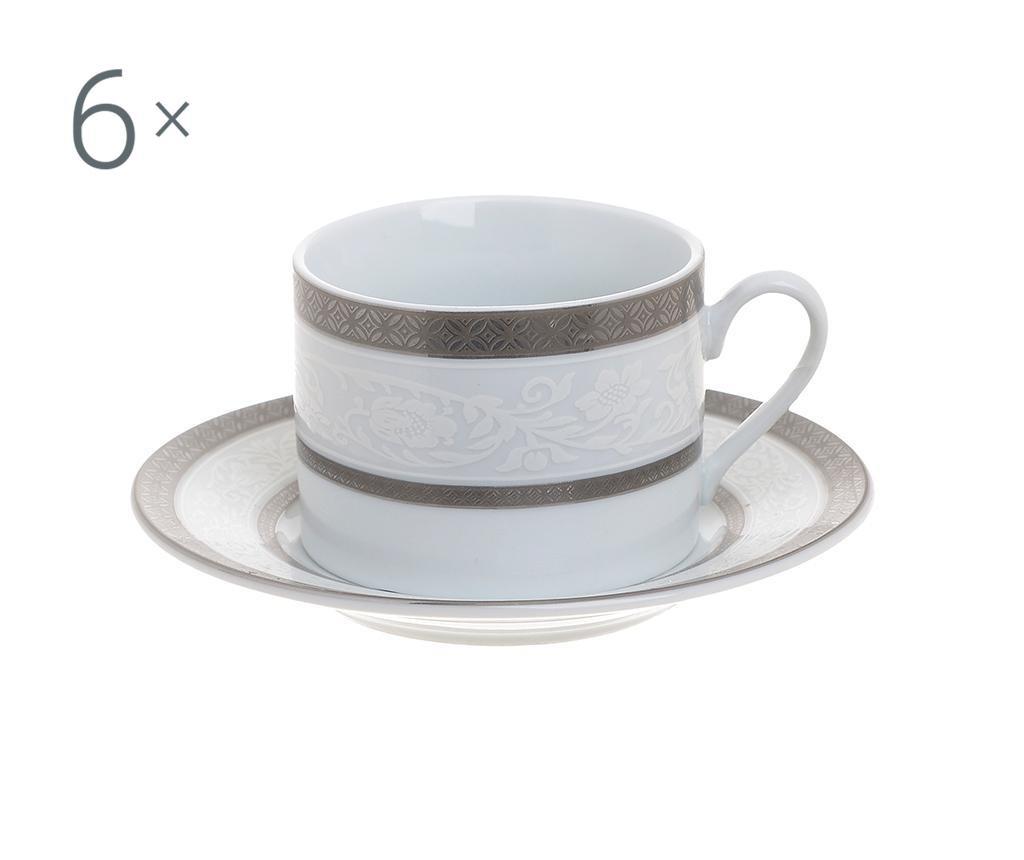 Sada 6 kávových šálků a 6 talířů Josefa