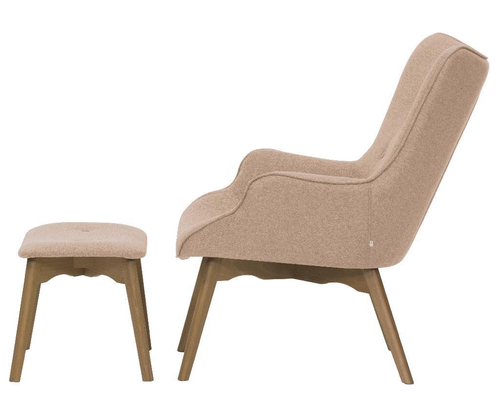 Ducon Light Malmo Pink Fotel és lábzsámoly