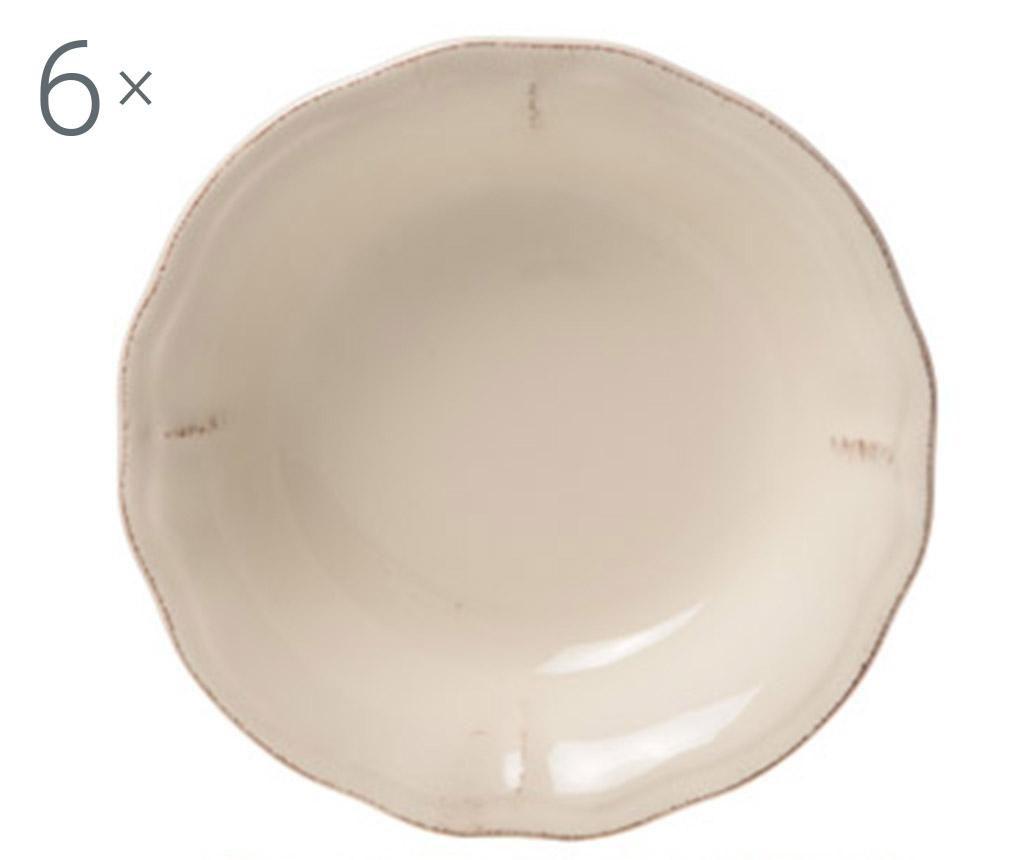 Комплект 6 дълбоки чинии New England Ivory