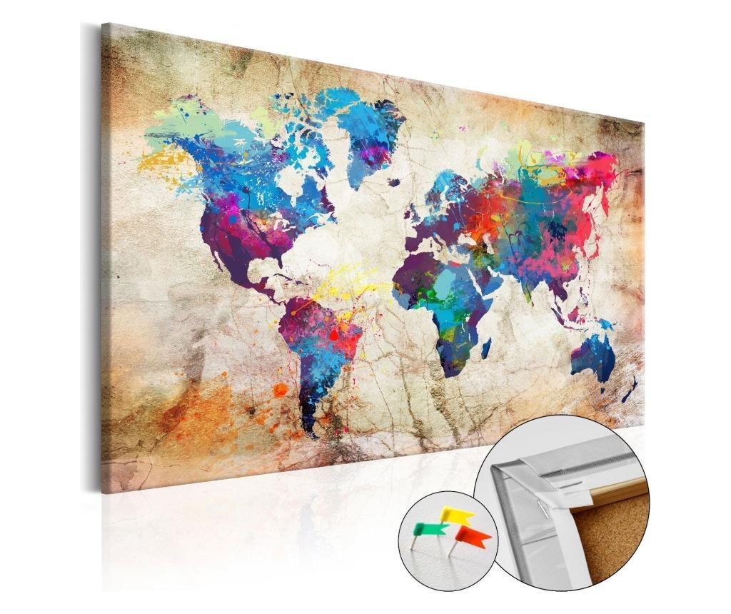 Slika World Map: Urban Style 60x90 cm