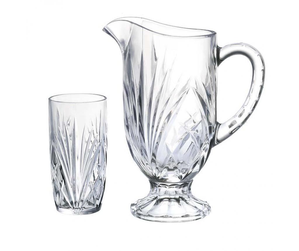 Set 6 čaša za vodu i vrč Calssic Clear