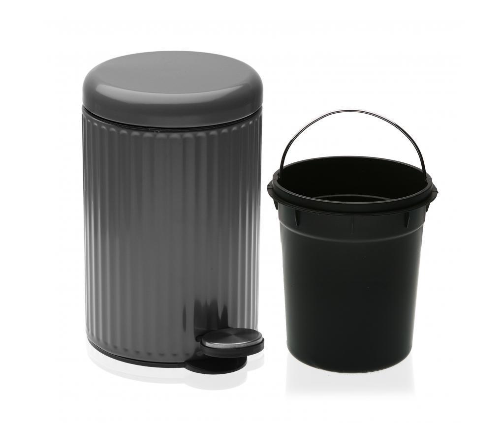 Cos de gunoi 3 L - Versa, Gri & Argintiu