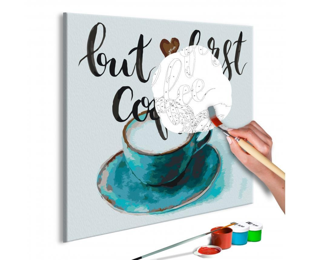 But First Coffee DIY kanavász kép 40x40 cm