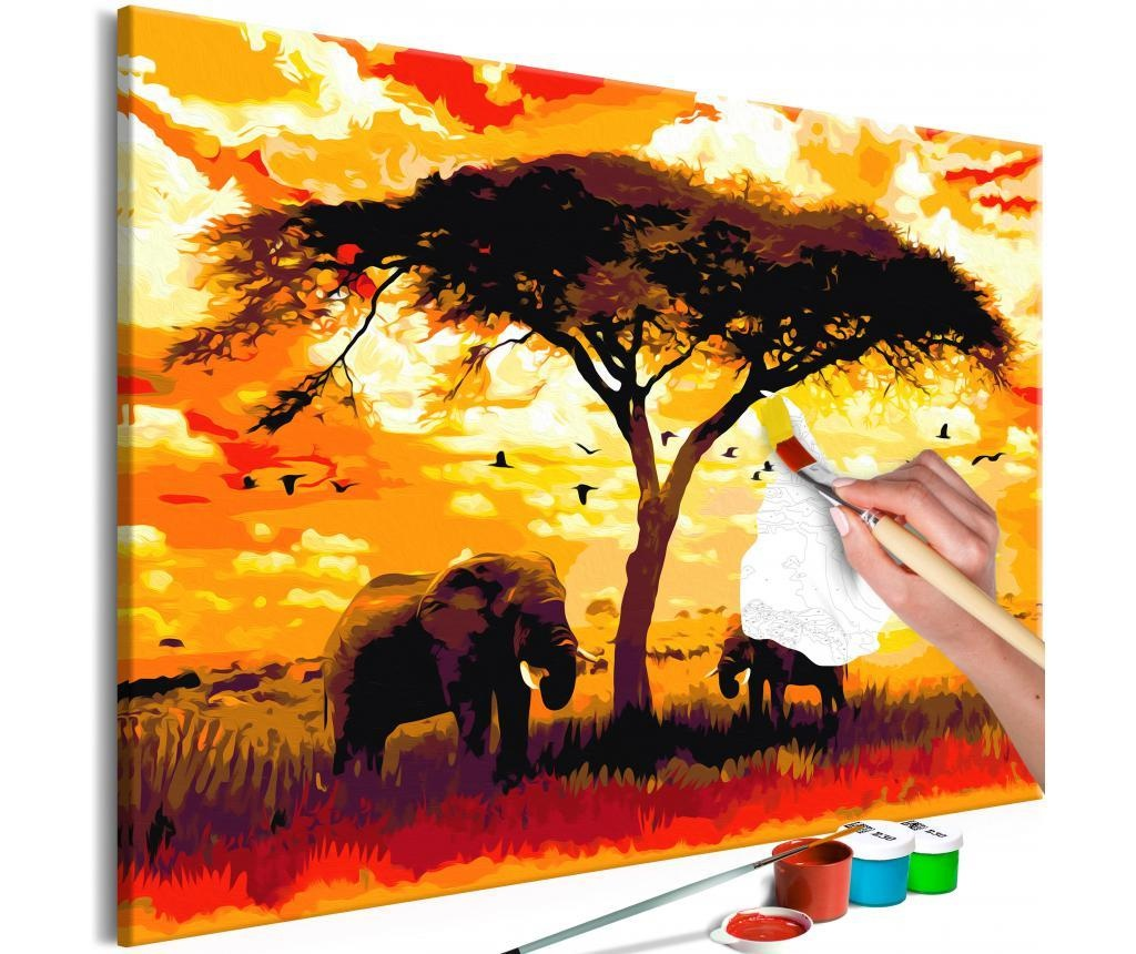 Africa at Sunset DIY kanavász kép 80x120 cm
