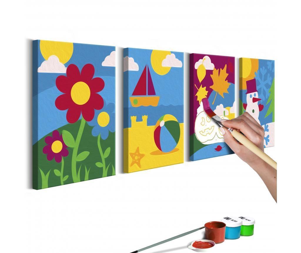 Four Seasons 4 db DIY Kép  11x16.5 cm