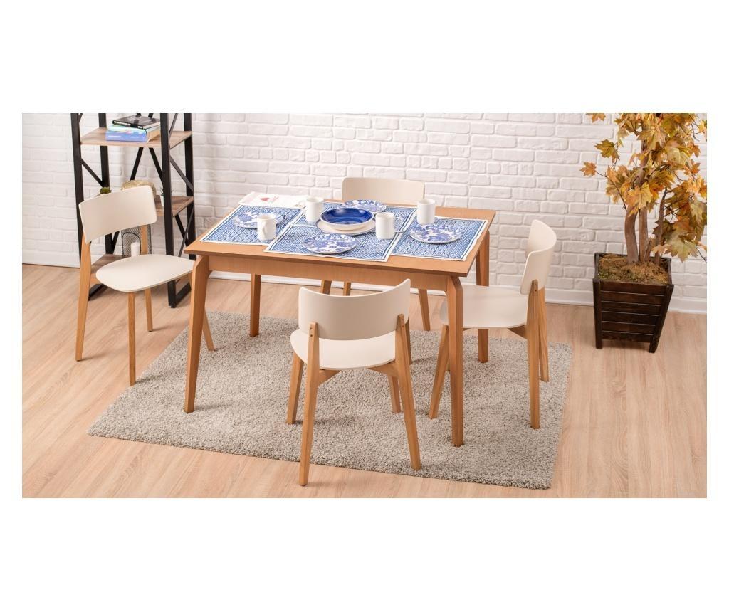 Set mize in 4 stolov
