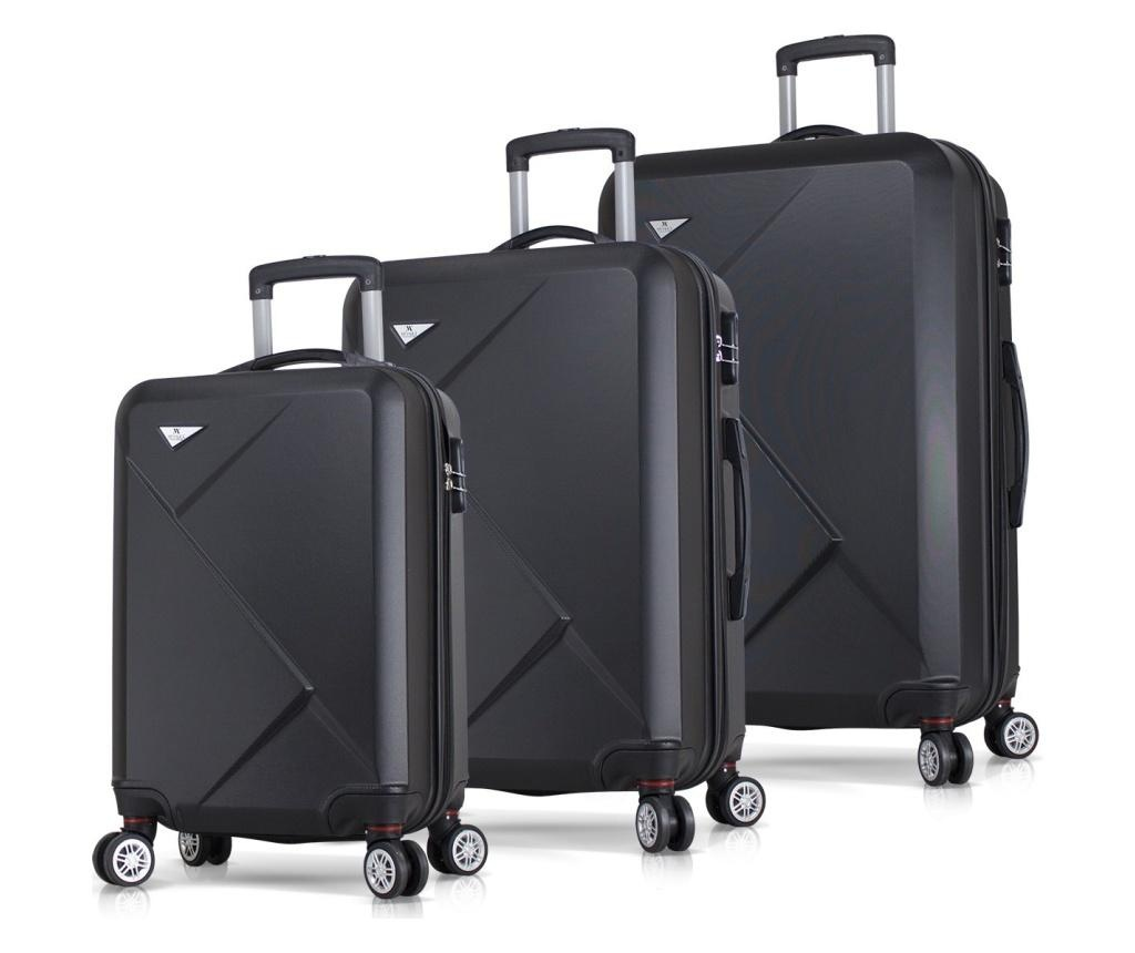 Set 3 trolere Diamond Black