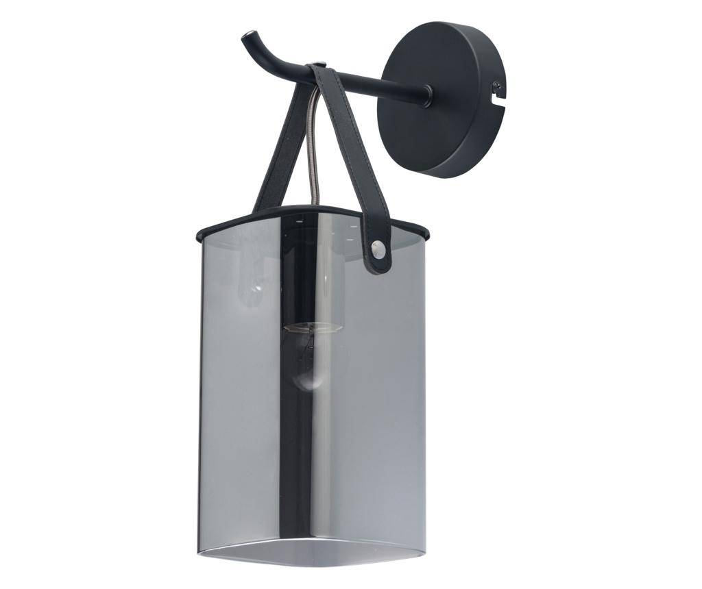 Aplica de perete Alpha Grey Black - Functional Lighting, Gri & Argintiu,Negru
