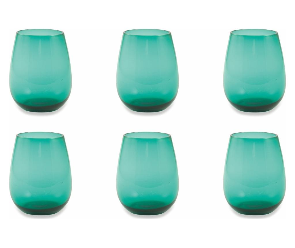 Set 6 pahare Happyhour Aquamarine 428 ml - Villa D'Este Home Tivoli, Verde