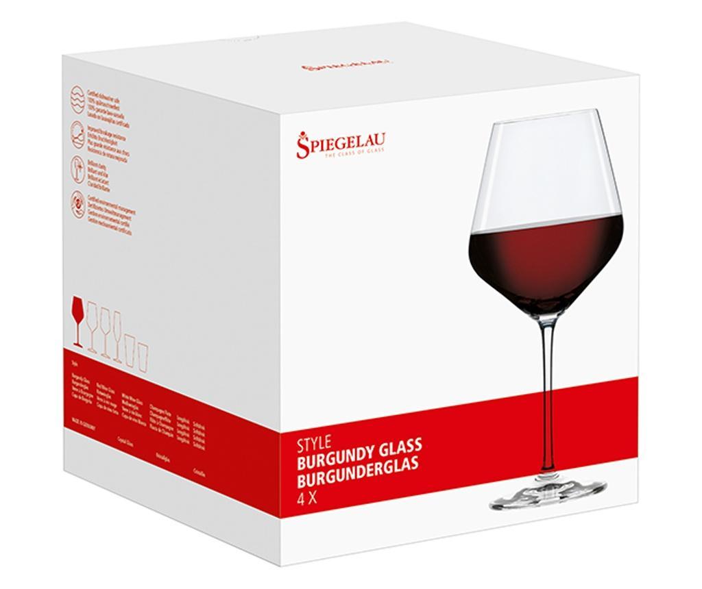 Set 4 pahare pentru vin Burgundy Spiegelau Style 640 ml - Spiegelau, Alb