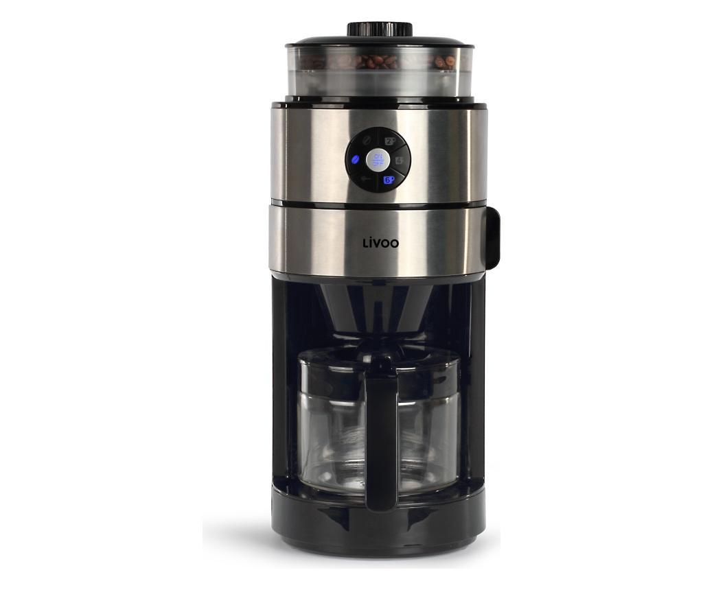 Cafetiera electrica cu rasnita automata 750 ml - LIVOO, Negru