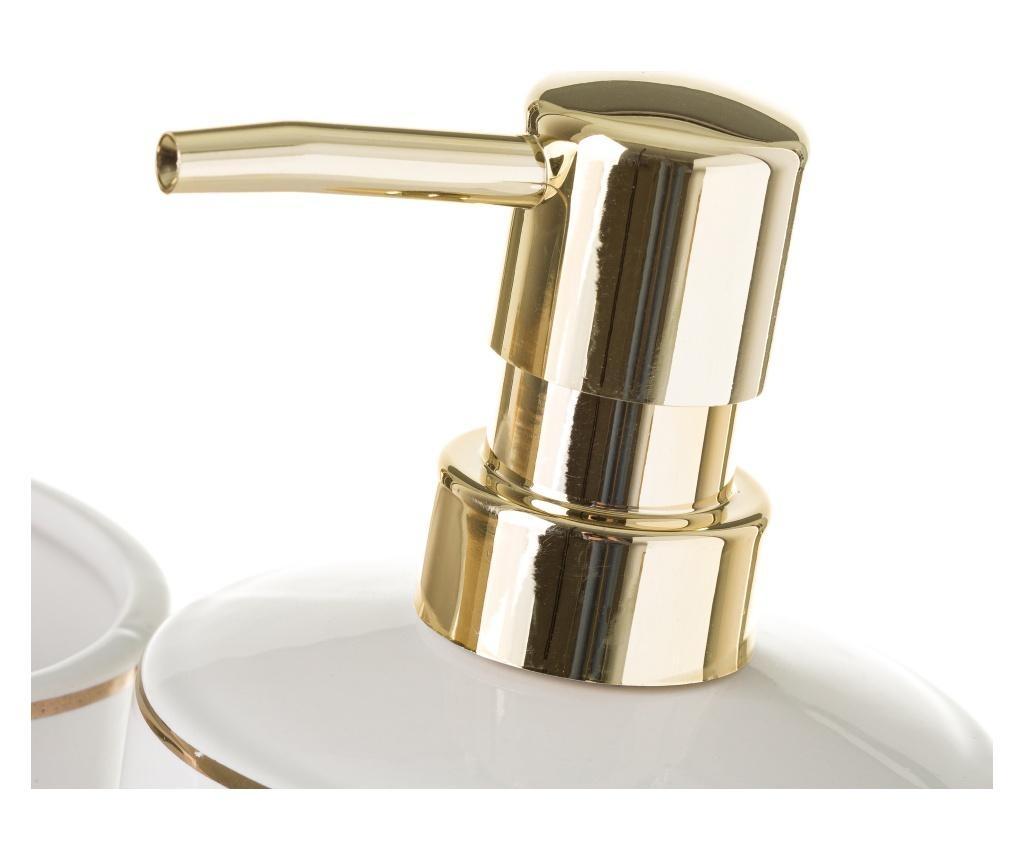 Set dozator za sapun i držač četkica za zube Elegance Gold