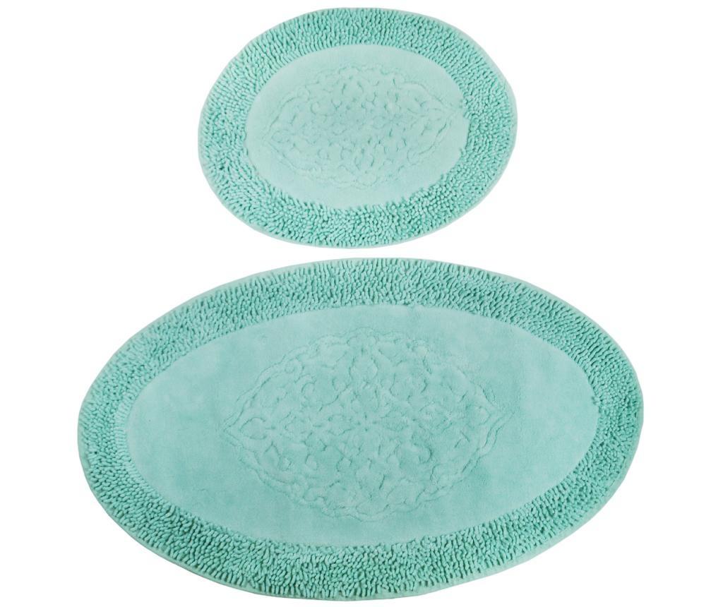 Holly Oval Mint 2 db Fürdőszobai szőnyeg