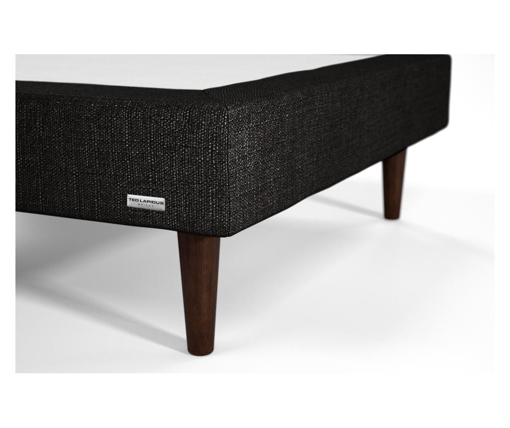 Set 2 cadre de pat cu somiera Calcite 80x200 cm