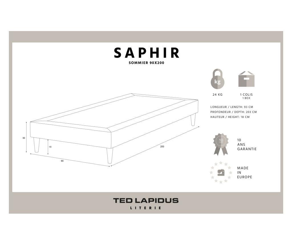 Saphir Ágykeret 90x200 cm