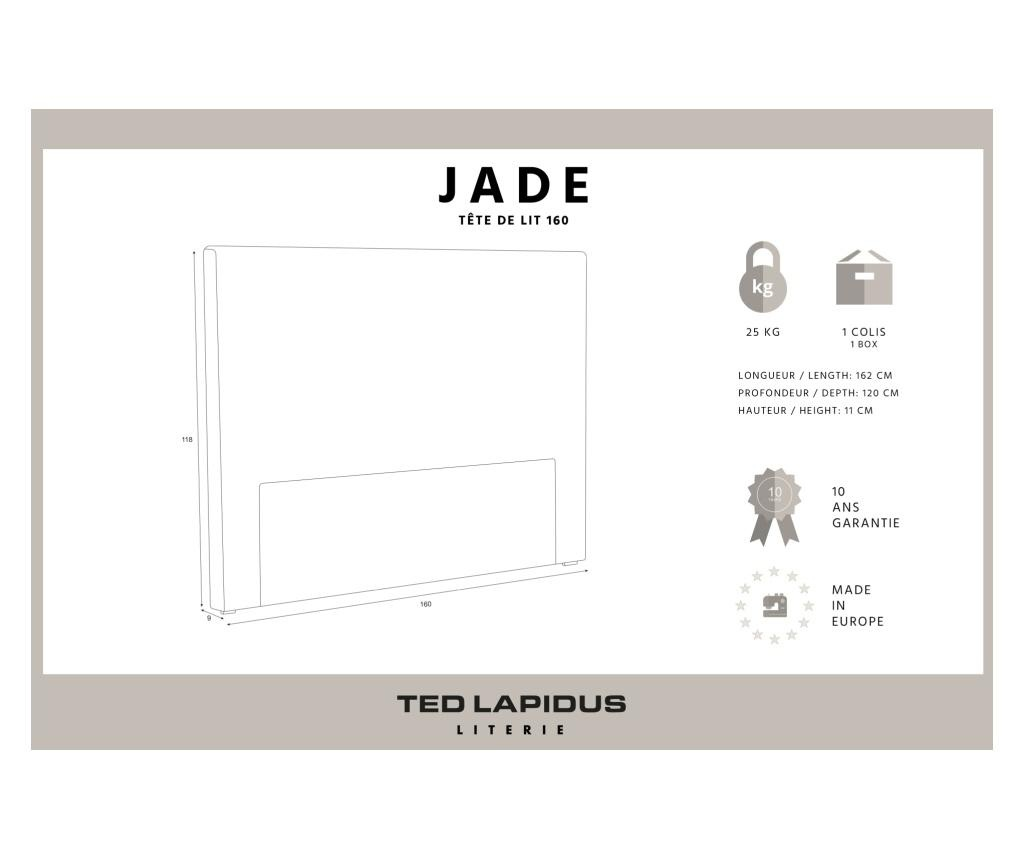Tablie de pat Jade Light Grey 160x118 cm