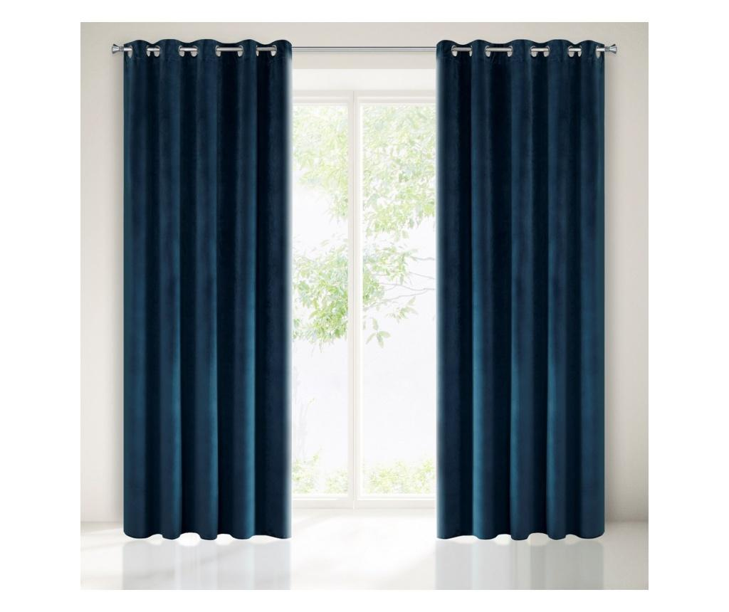 Draperie Villa Blue Rings 140x250 cm - Eurofirany, Albastru