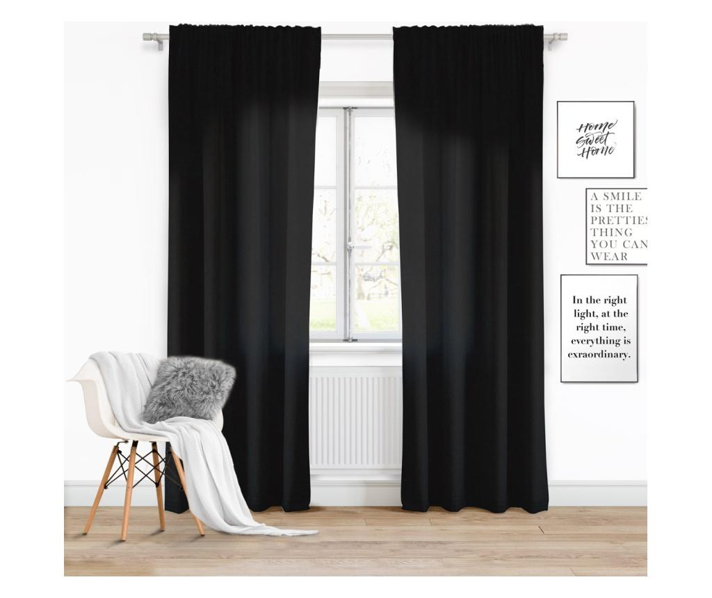Draperie Viva Tape Black 140x250 cm - Chic Home, Negru