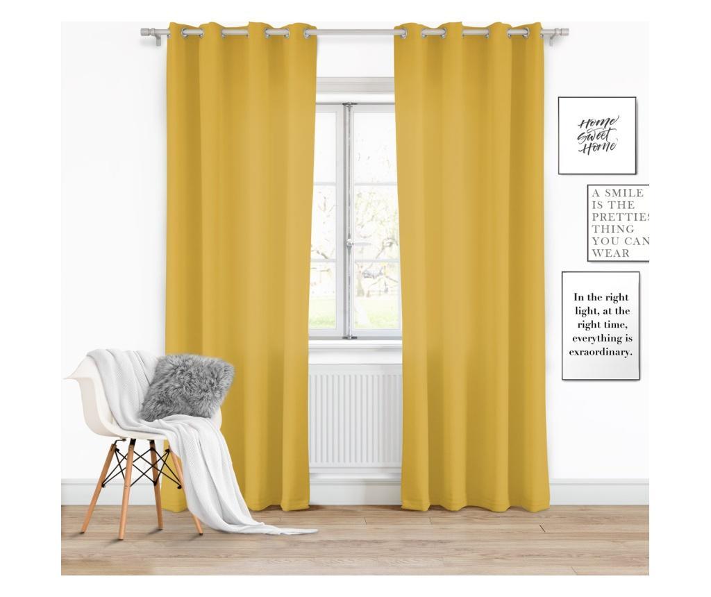 Draperie Viva Yellow 140x250 cm - Chic Home, Galben & Auriu