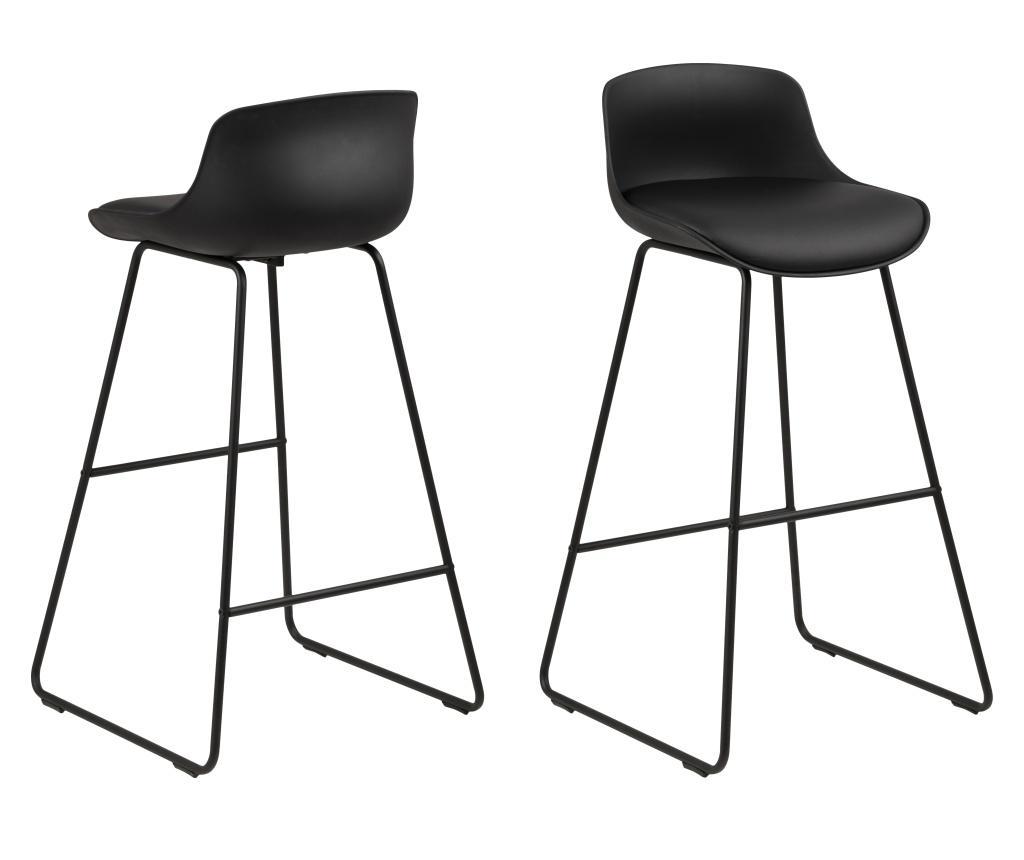 Set 2 scaune de bar Tina - actona, Negru