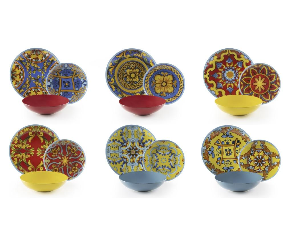 Set Masa Trinacria Multicolor