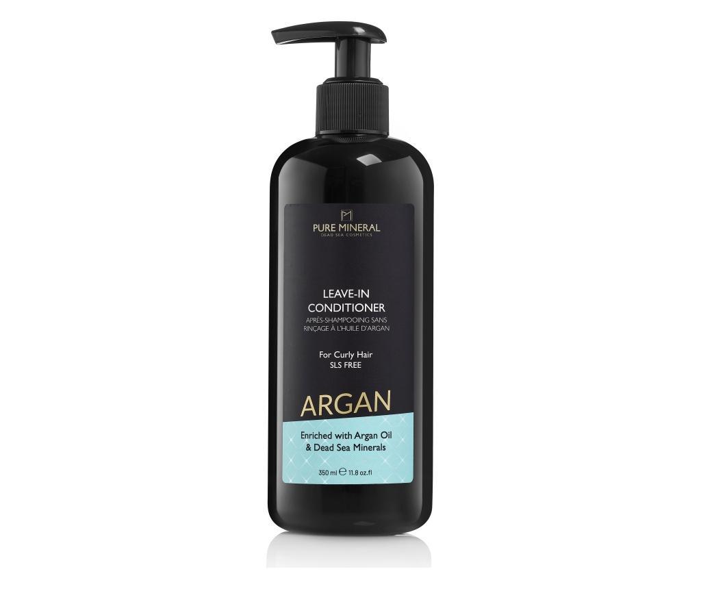 Balsam de par leave-in pentru par ondulat Pure Mineral Argan 350 ml - Pure mineral