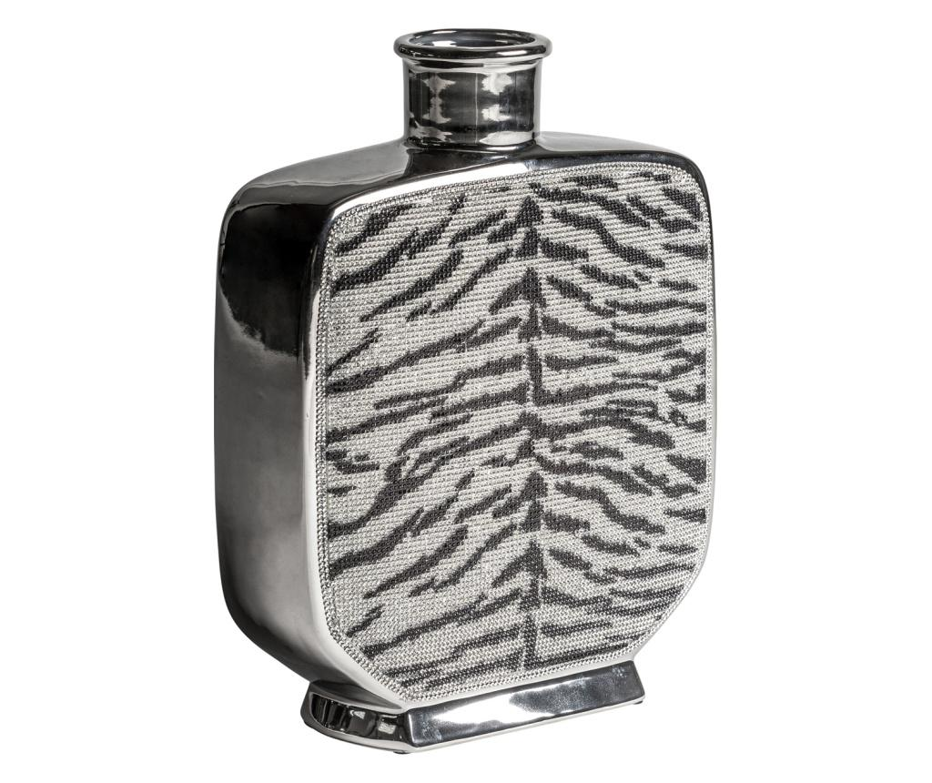 Vaza Zebra S - Burkina, Gri & Argintiu