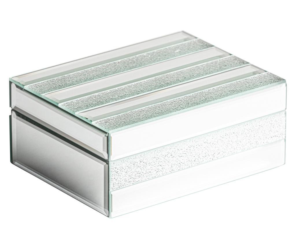 Cutie pentru bijuterii Venice - Burkina, Gri & Argintiu