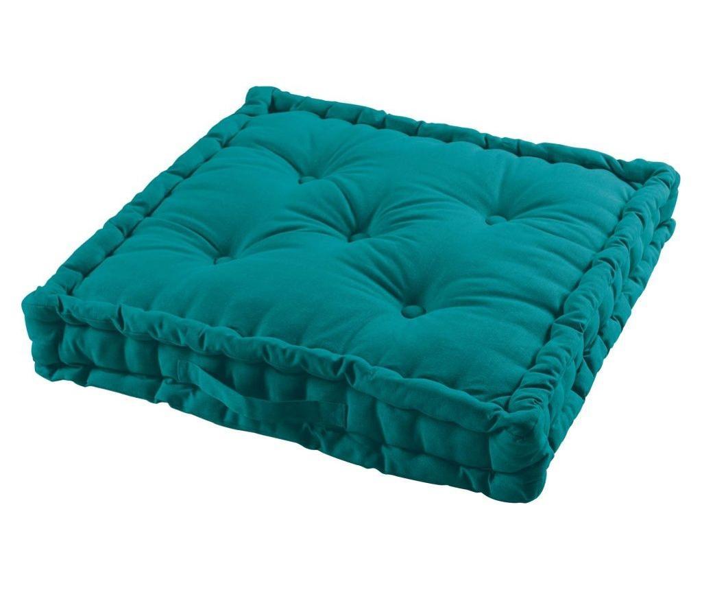 Perna de podea Emerald Green 60x60 cm - COTON d'intérieur, Multicolor