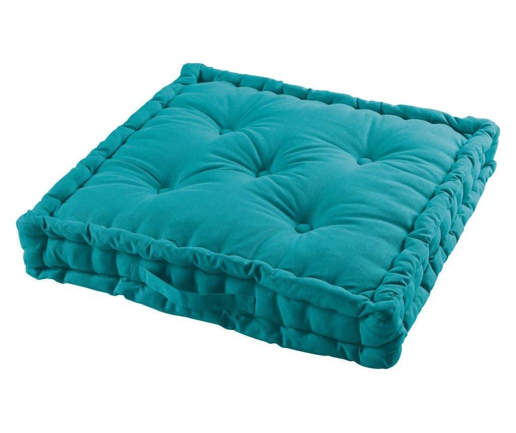 Perna de podea Panama Blue 60x60 cm - COTON d'intérieur, Multicolor