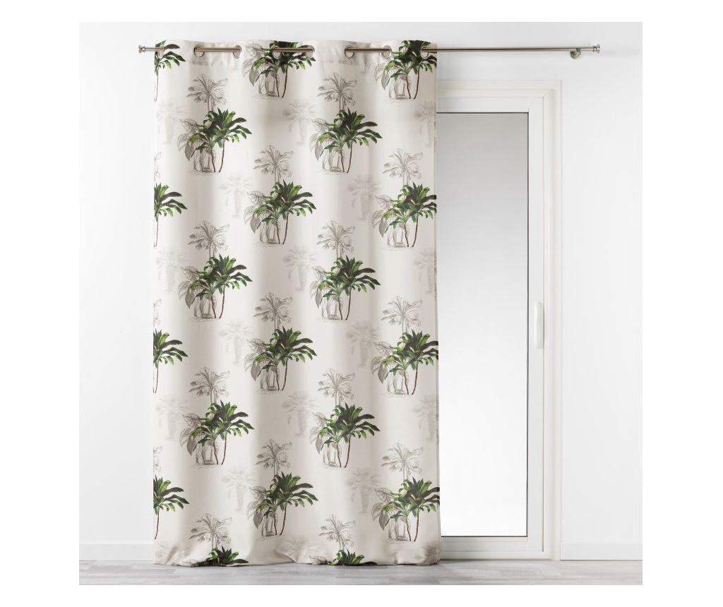 Draperie Tropi Palmy 140x260 cm - douceur d'intérieur, Multicolor