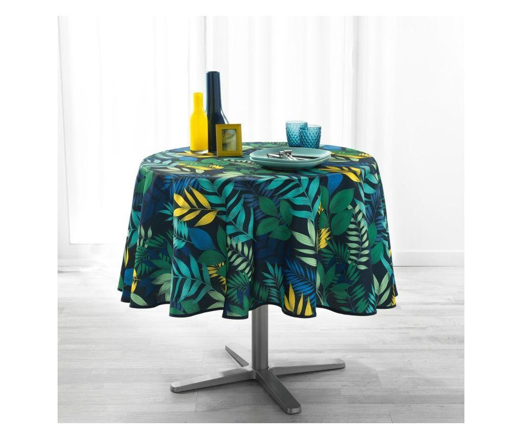 Fata de masa Palma Navy Blue 180 cm - douceur d'intérieur, Multicolor