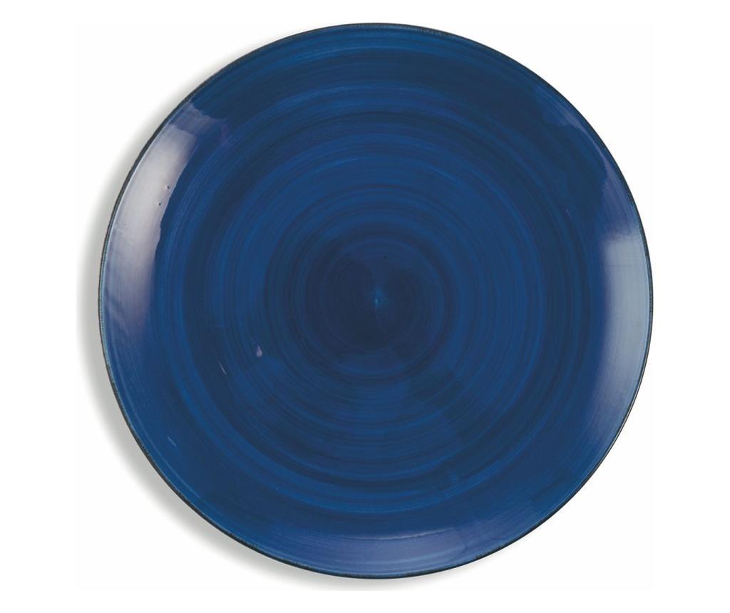 Set 6 farfurii intinse Clara Blue - Villa D'Este Home Tivoli, Multicolor