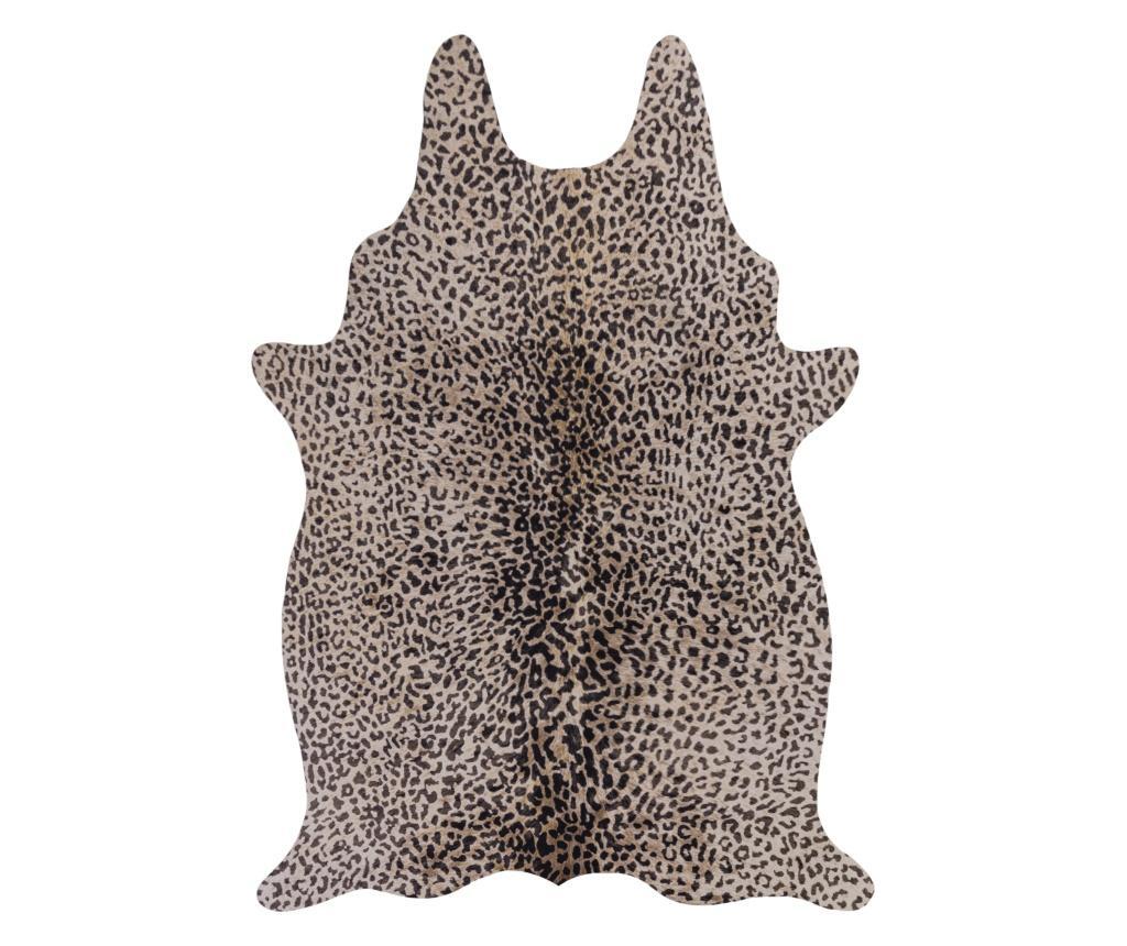 Covor Leopard Maro Negru