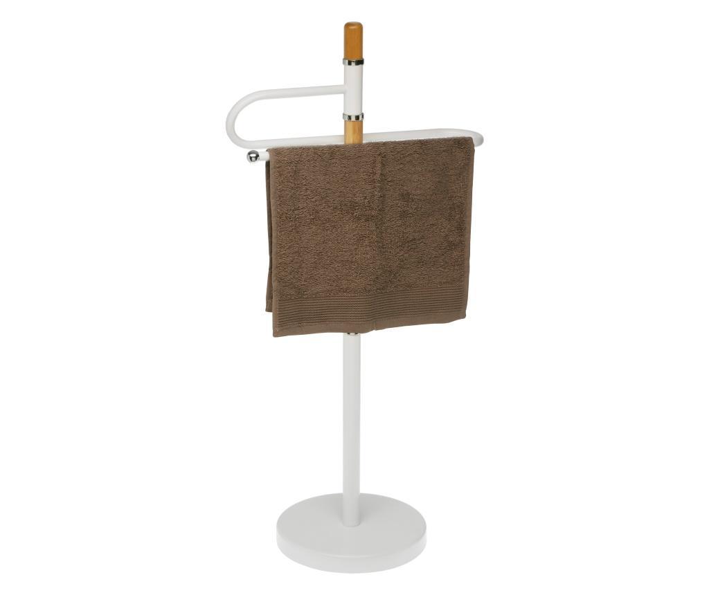 Suport pentru hartie igienica si perie de toaleta - Versa, Alb