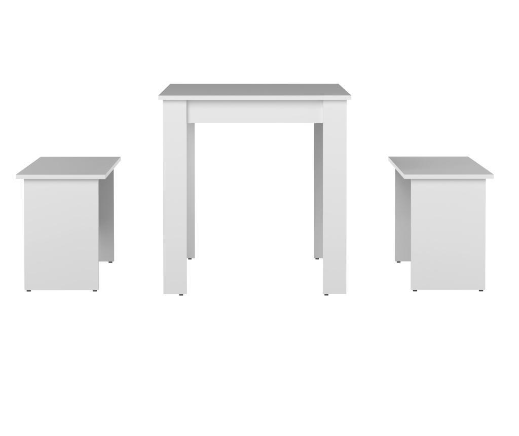 Set - miza in 2 klopi Nice Thick White