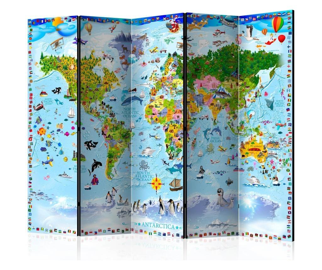 Sobna pregrada World Map for Kids II