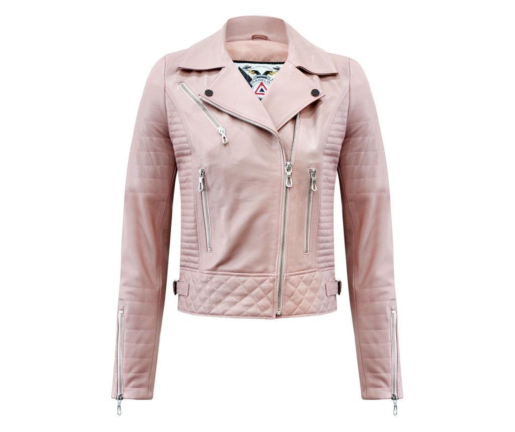 Ženska usnjena jakna Iparelde Pink S