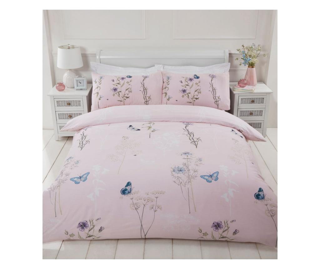 Set de pat Single Laura Blush - Rapport Home, Multicolor