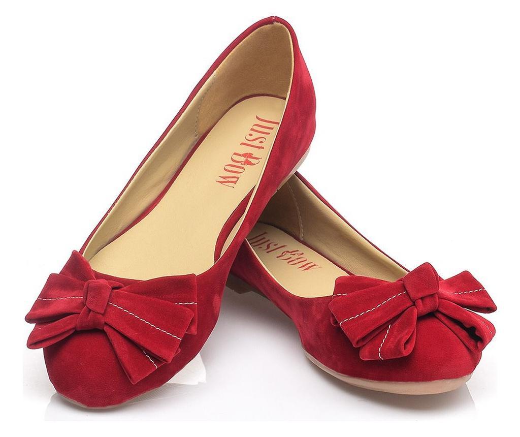 Balerini dama Elba Red 41 - JustBow, Rosu