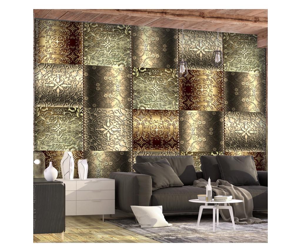Tapet Metal Plates 280x400 cm - Artgeist, Galben & Auriu