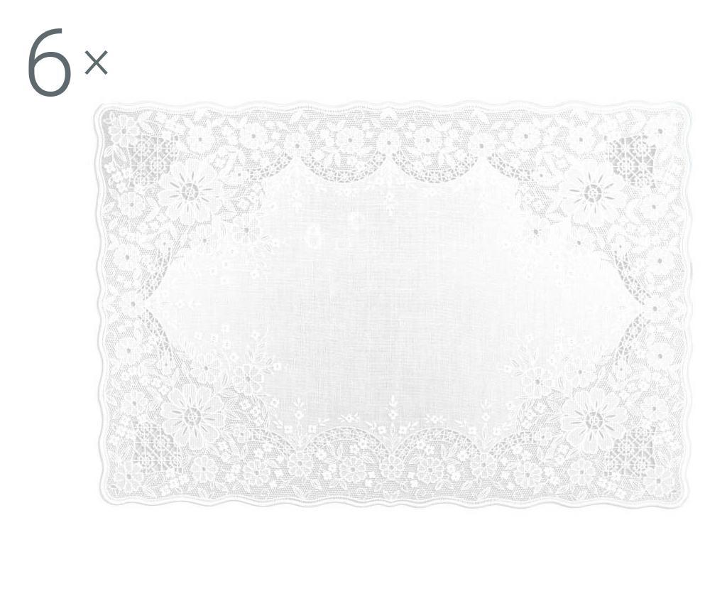 Set 6 suporturi pentru farfurii Venice 30x45 cm - Excelsa, Alb