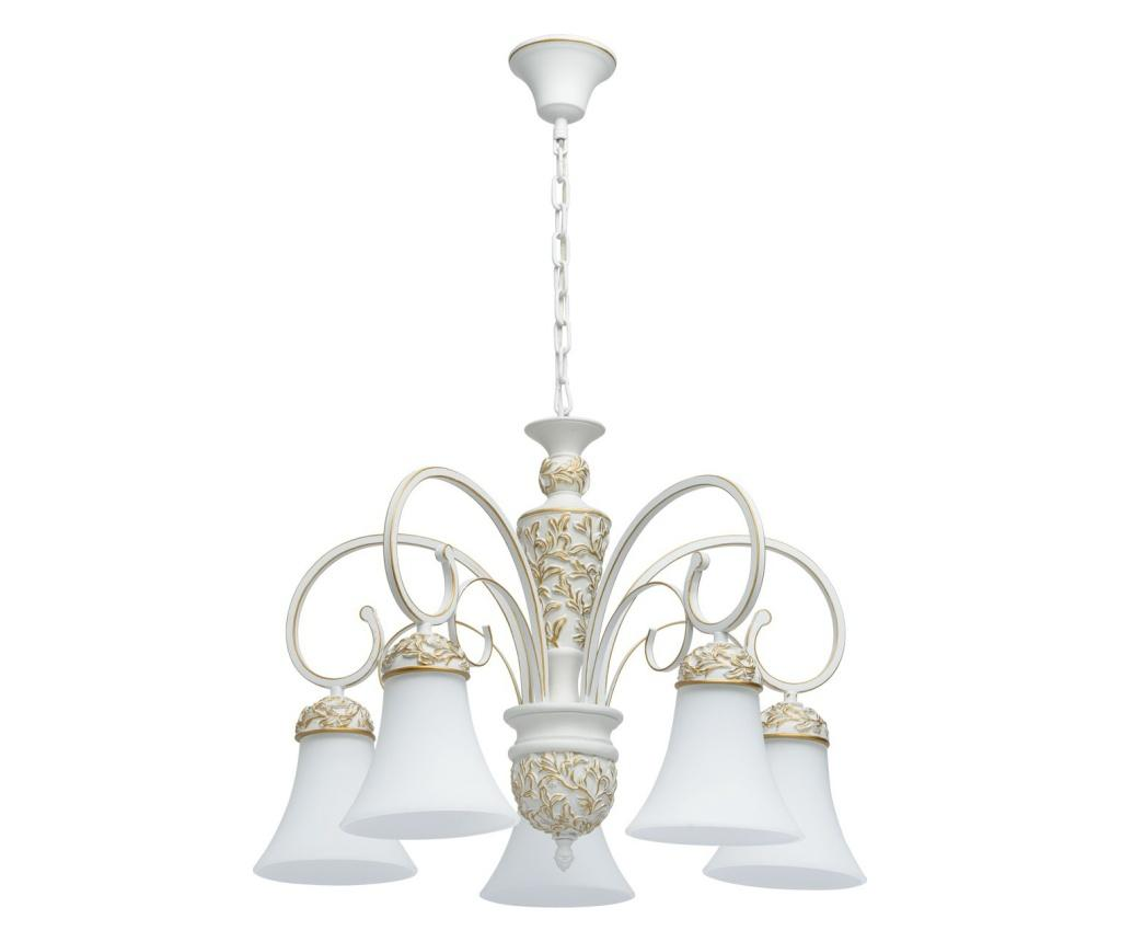 Lustra Bologna 5 - Classic Lighting, Alb