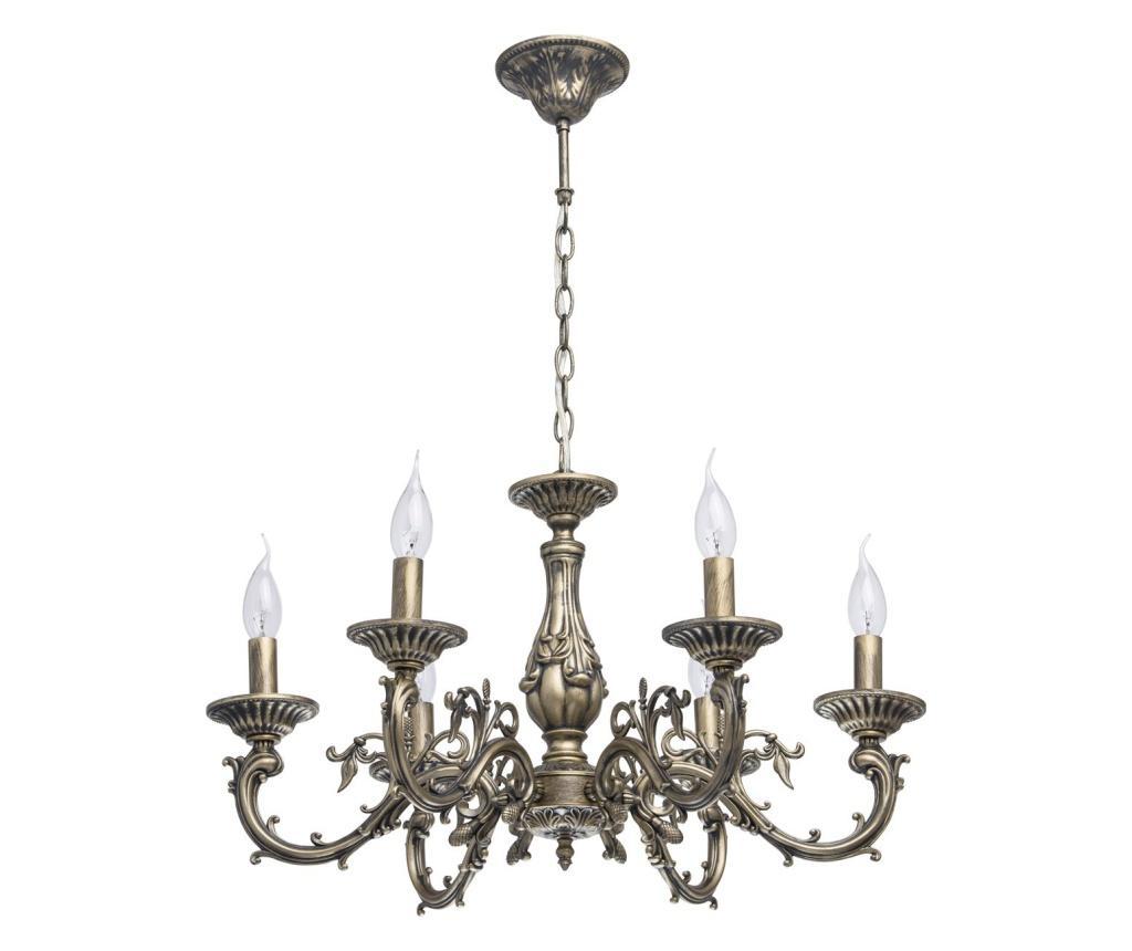 Candelabru Aurora 6 - Classic Lighting, Galben & Auriu