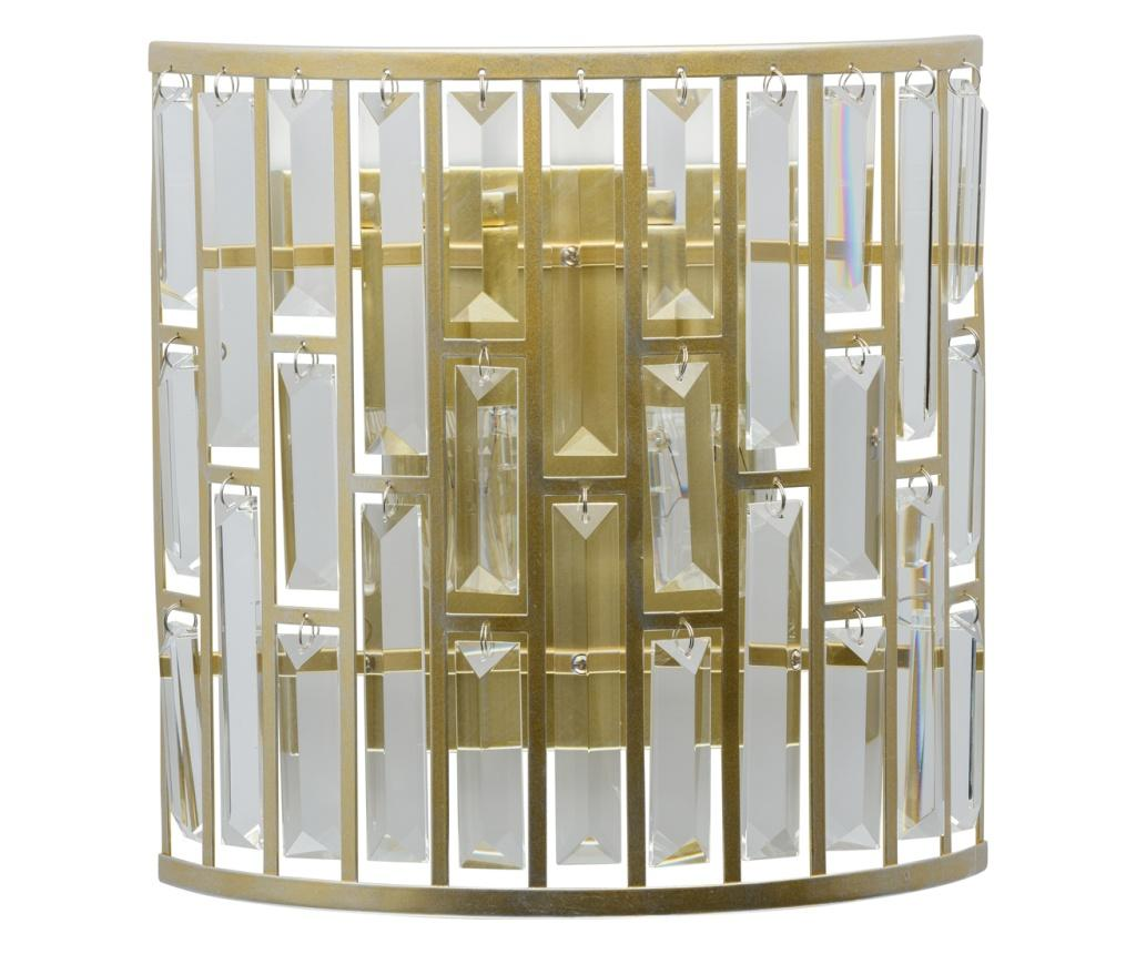 Aplica de perete Monarch - Classic Lighting, Alb,Galben & Auriu
