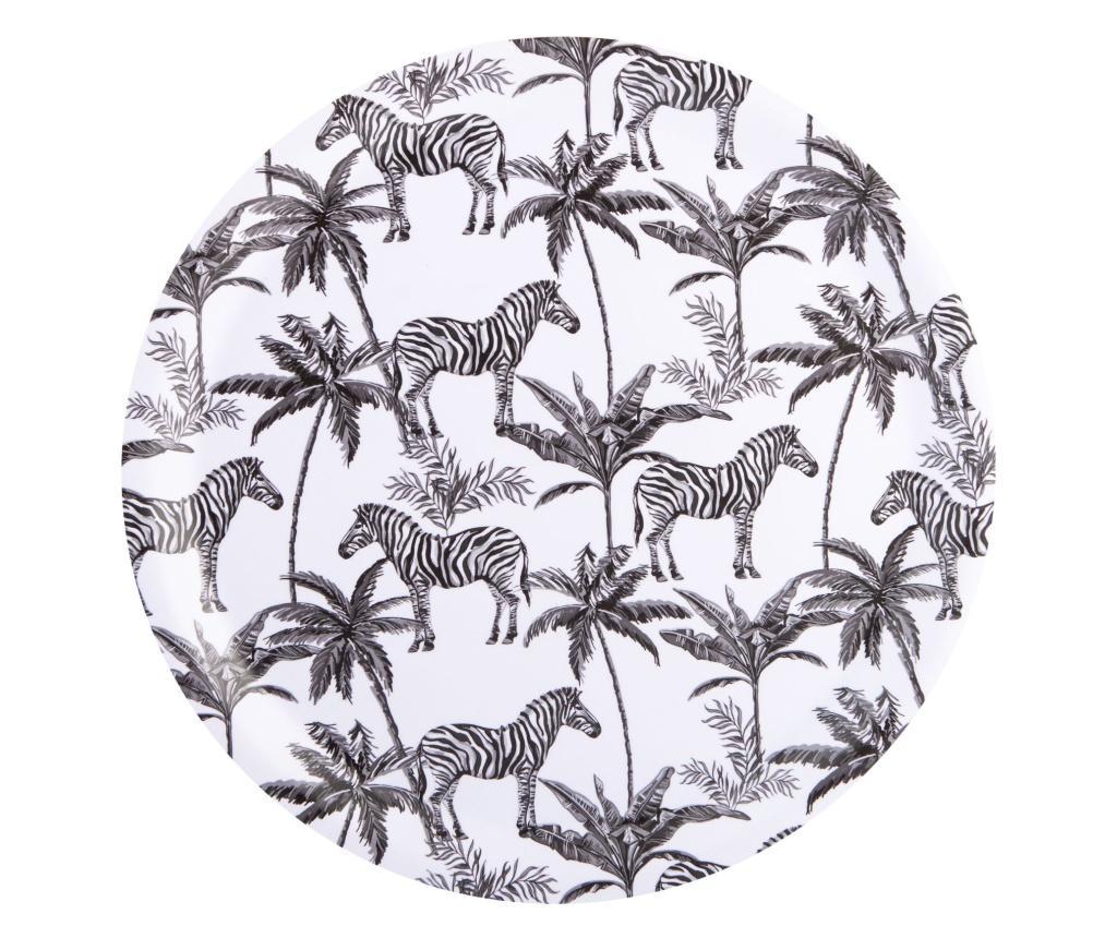 Tava Zebra - Beau & Elliot, Alb