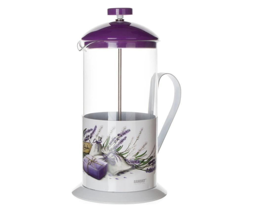 Cafetiera Lavender 1 L - Banquet, Alb,Mov
