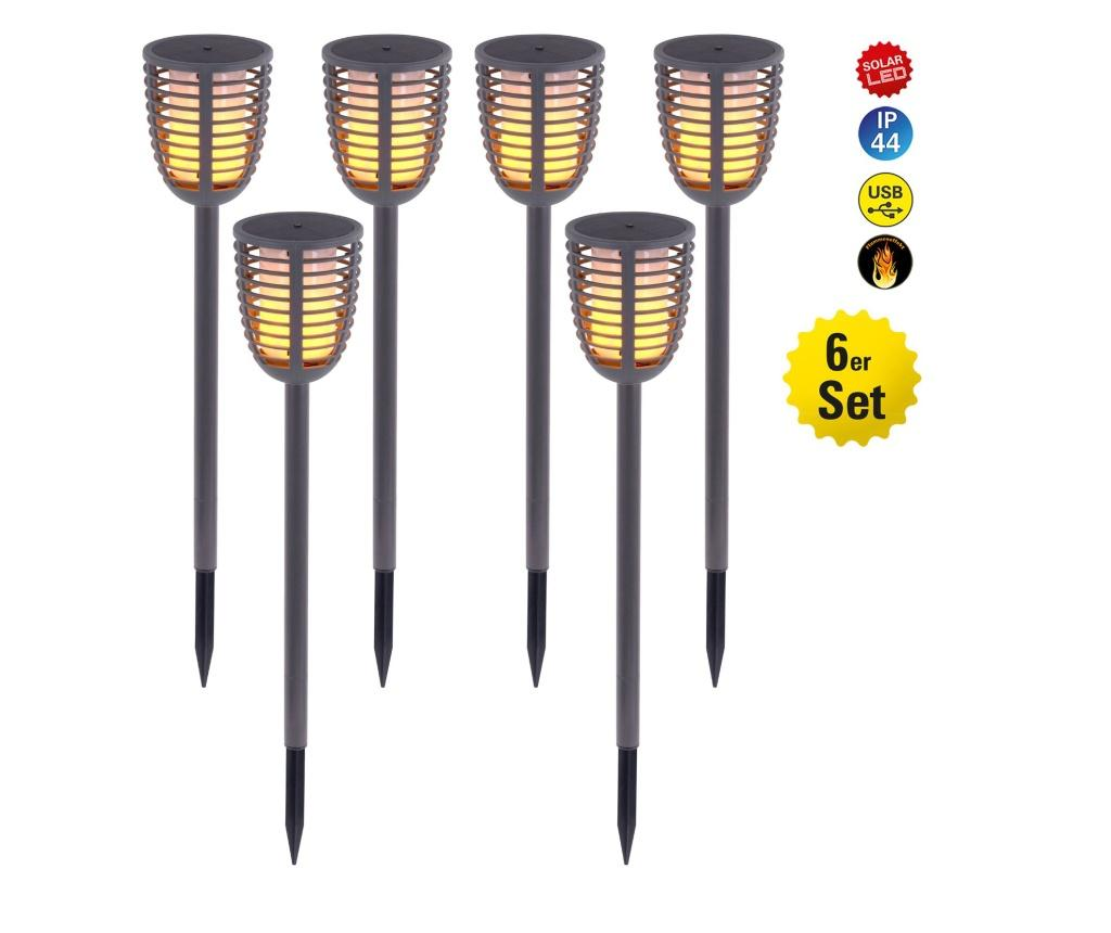 Set 6 lampi solare cu LED Fackel - Näve, Multicolor