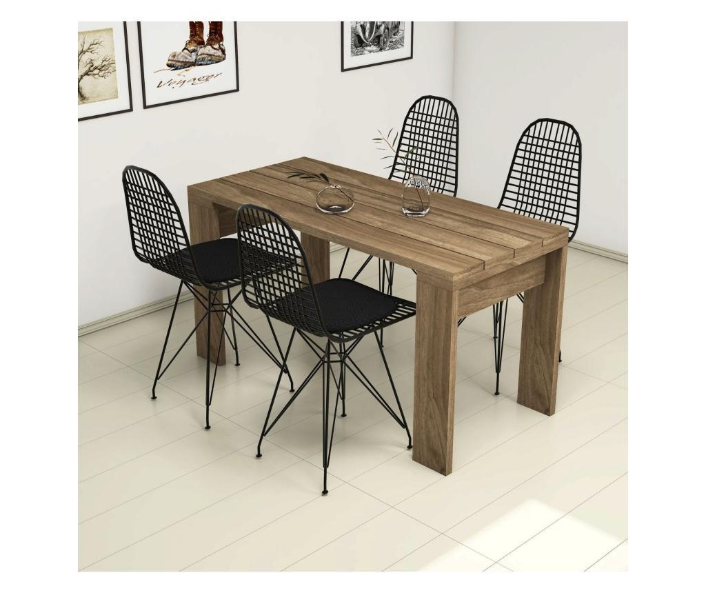 Set masa si 4 scaune Yonca - Puqa Design